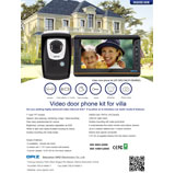 Video door phone kit OP-D6D10+OP-D6A8M2